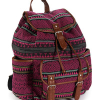 Aeropostale  Geo Mix Backpack - Black, One