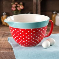 The Pioneer Woman Flea Market 2.83-Quart Batter Bowl with Decal, Red Polkadot - Walmart.com