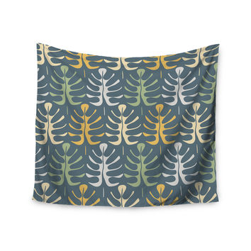 "Julia Grifol ""My Leaves on Blue"" Wall Tapestry"