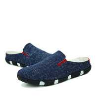 Summer Stylish Casual Korean Permeable Lace Soft Shoes Men's Shoes [6542339267]