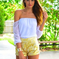 Gold Venaissance Shorts