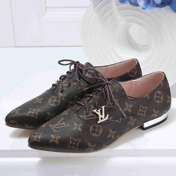 Louis Vuitton Women Fashion Casual Low Heeled Shoes