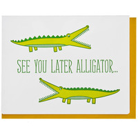 SEE YOU LATER ALLIGATOR CARD - Default Title