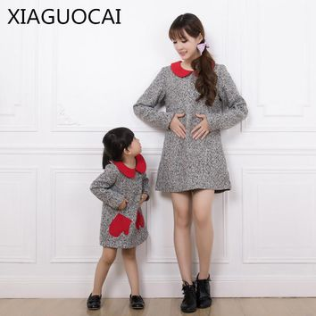 XiaGuoCai Family Matching Outfits Mother And Daughter Girl Dress Doll Collush Spring and Autumn clothes Princess dress l194 35