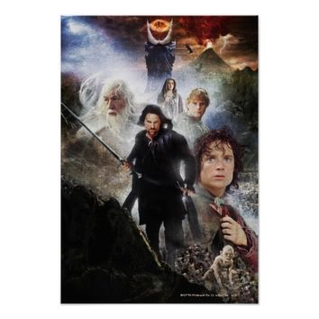 LOTR Character Collage Poster
