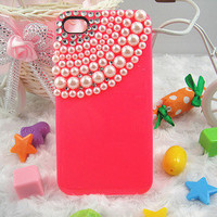 Pearl iPhone 4 4s Case, iPhone Case, iPhone 5 case, handmade Hard Case, iphone cover, iphone 5 cover