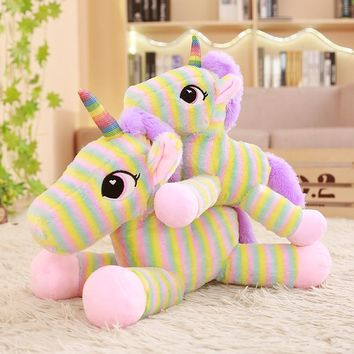 Unicorn Stuffed Animals Soft Doll Cartoon Plush toy Unicorn Animal soft horse Kids Doll Birthday Gift toys for children bk2