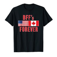 CANADA and US T-shirt BFFs Forever