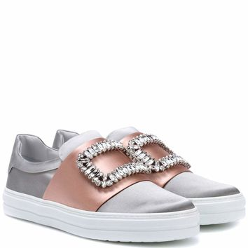 Sneaky Viv' satin slip-on sneakers