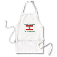 You bet your kibbi I'm Lebanese Aprons from Zazzle.com