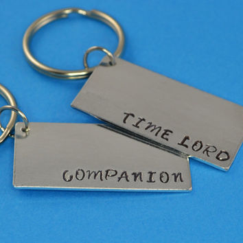 Time Lord and Companion Keychain Set - Doctor Who