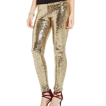 Gianni Bini Tabitha Sequin Leggings | Dillards