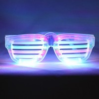 RGB LED Rock Star Shutter Sunglasses