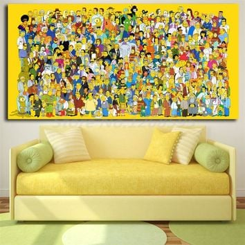 The Simpsons Characters HD Wallpapers Canvas Painting Print Living Room Home Decor Modern Wall Art Oil Painting Poster Artwork