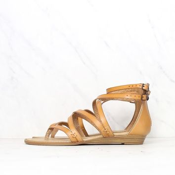 blowfish - women's bungalow wedge sandal - desert sand dye cut