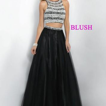 Blush Tulle Skirt Two Piece Dress 5504