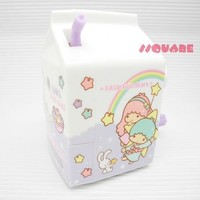 NEW! Sanrio Little Twin Stars Cute Milk Box Shape Pencil Sharpener, Purple