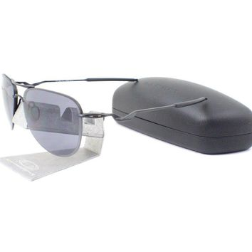 Oakley OO 4086-09 TAILPIN Satin Black Grey Mens Wire Sports Sunglasses