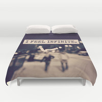 I Feel Infinite Duvet Cover by Caleb Troy