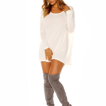 Naked Wardrobe Thigh High Baddie Boots