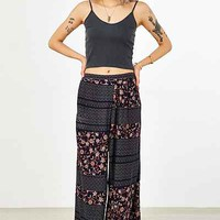 Ecote Patched Crossover Wide-Leg Pant - Urban Outfitters