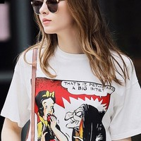Snow White Print T-Shirt