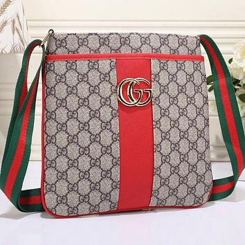 Perfect  Gucci Women Leather Zipper Shopping Crossbody Shoulder Bag Satchel