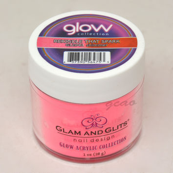 Glam and Glits GLOW ACRYLIC Glow in the Dark Dip Powder 2041 Rekindle That Spark