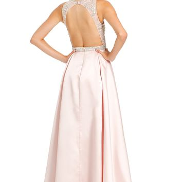 AB Bead Illusion Bodice Dress from Camille La Vie and Group USA