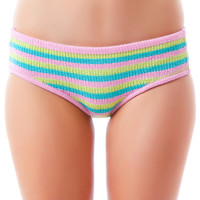 Knitty Kitty Candy Stripe Panty Pink