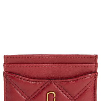 MARC JACOBS Quilted Leather Card Case | Nordstrom