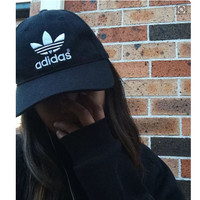 Adidas Performance Max Side Hit Baseball Cap Golf Hat Relaxed Fit Black white logo