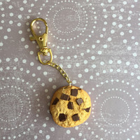 SCENTED Chocolate Chip Cookie Planner Charm / Keychain (Polymer Clay)