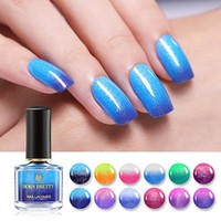 BORN PRETTY 6ml Glitter Color Changing Nail Polish Thermal Nail Art Varnish Manicure 12 Colors