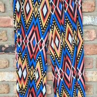Blue Red & Yellow Diamond Palazzo Pants *FINAL SALE*