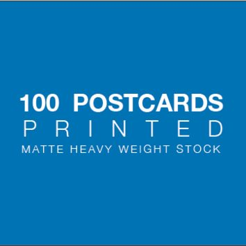 Printing of 100 Postcards - Heavy weight matte paper stock