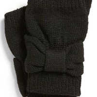 David & Young Bow Fingerless Gloves (Juniors) | Nordstrom