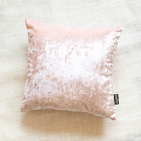 Rose Velvet Throw Pillow