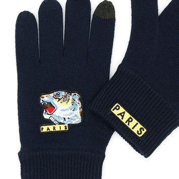 Tiger Face Gloves by Kenzo
