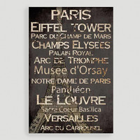 Paris Words - World Market