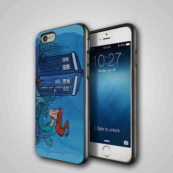 little mermaid tardis, iPhone 4/4S, 5/5S, 5C Series Hard Plastic Case