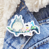 Totoro Studio Ghibli Kitsch Kawaii Pin Badge Brooch