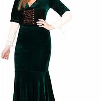 Women's Renaissance Dress Costume -  Green, X-Large - Performance & Stage Wear