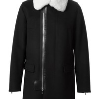 Dior Homme shearling collar coat