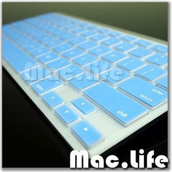 BLUE Silicone Skin for APPLE Wireless Keyboard (Not for New Magic Keyboard)
