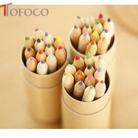 TOFOCO 12pcs Art colored pencils Drawing Sketches Mitsubishi Colour Pencil School Supplies Secret Garde PENCIL