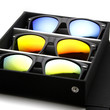 Limited Edition Flat Black Revo Lens Horned Rim Frame + Travel Case 8025