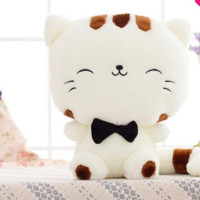 45cm Include Tail Cute large face cat Plush Stuffed Toys Pillow Birthday gift Cushion Fortune Cat Doll