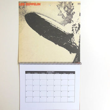 LED ZEPPELIN Wall Calendar 2014 - Record Album Cover (Led Zeppelin)