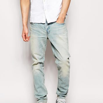 Evisu Jeans 2023 Skinny Fit Japanese Bleach Wash Denim
